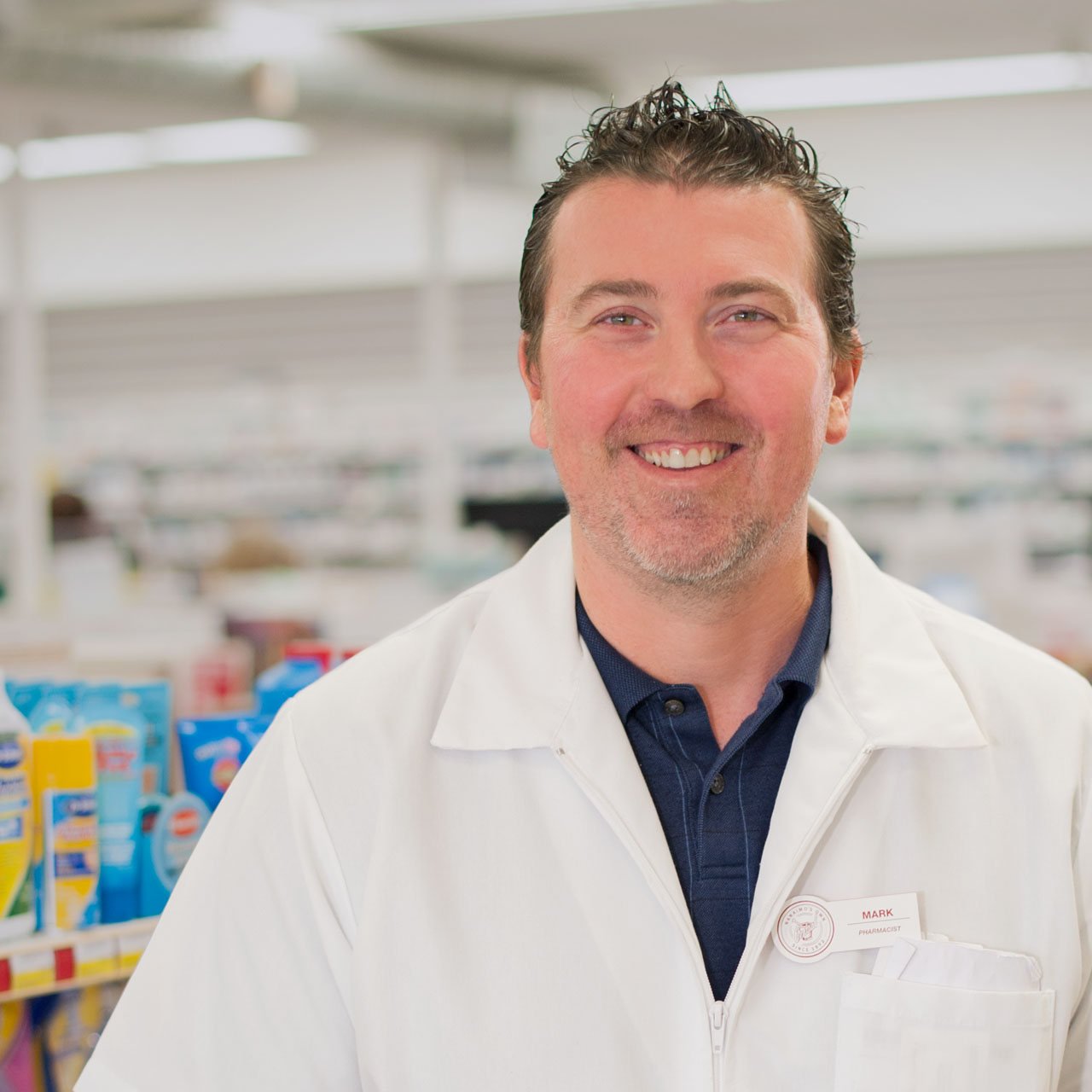 Find our pharmacist Mark at our Beban location