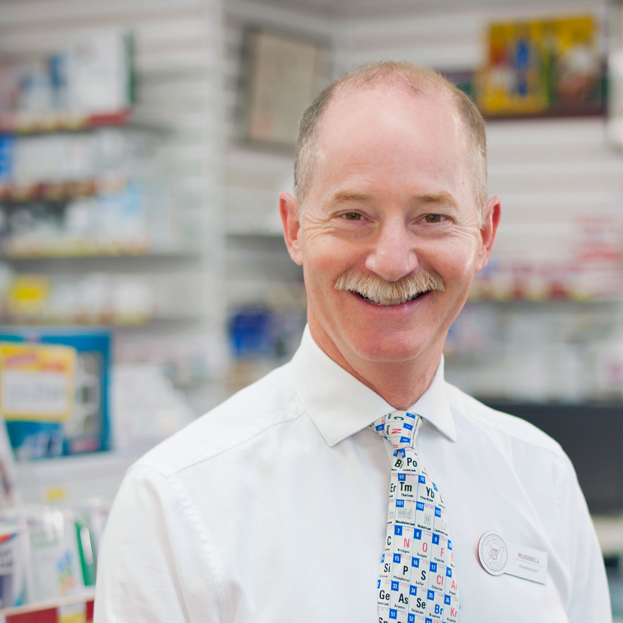 Find our pharmacist Russell at our Lantzville location